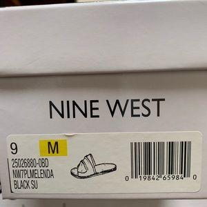 Nine West Black Melenda Sandals EUC